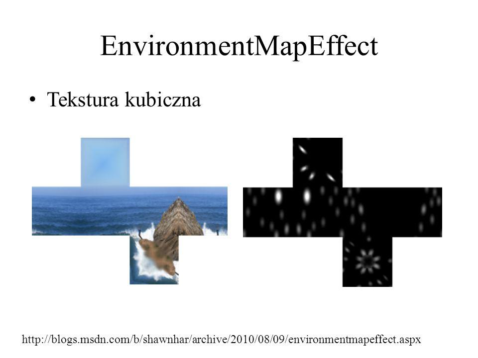 EnvironmentMapEffect Tekstura kubiczna http://blogs.msdn.com/b/shawnhar/archive/2010/08/09/environmentmapeffect.aspx