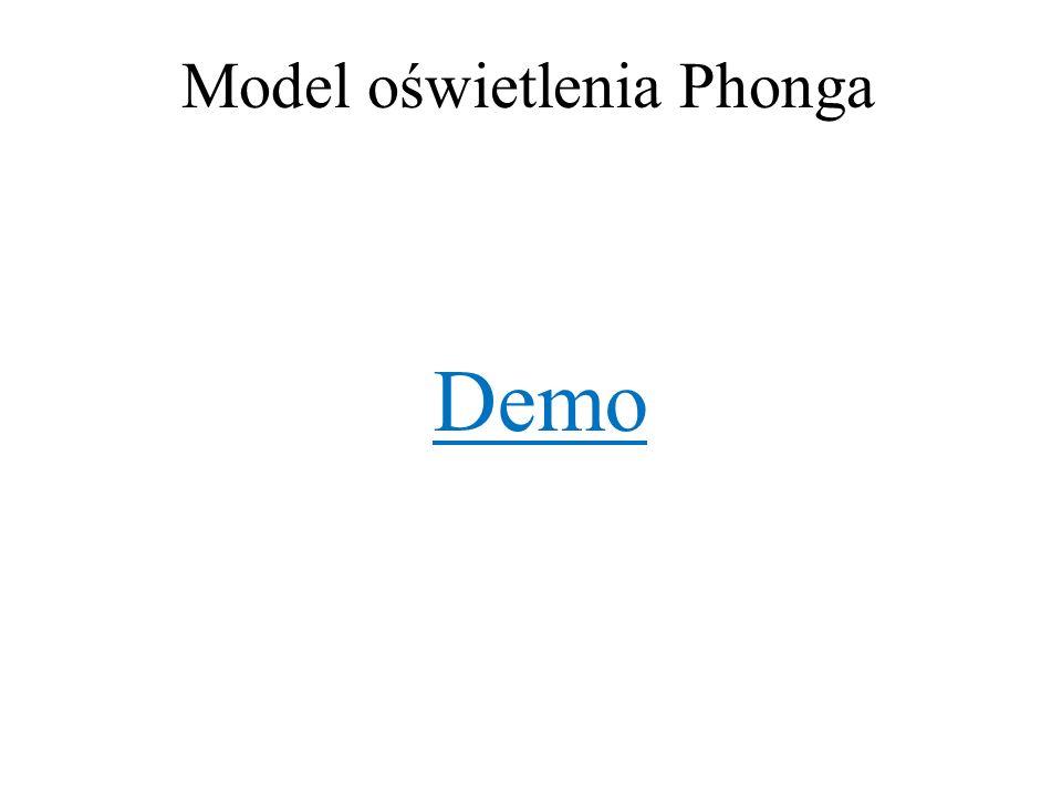 Model oświetlenia Phonga Demo