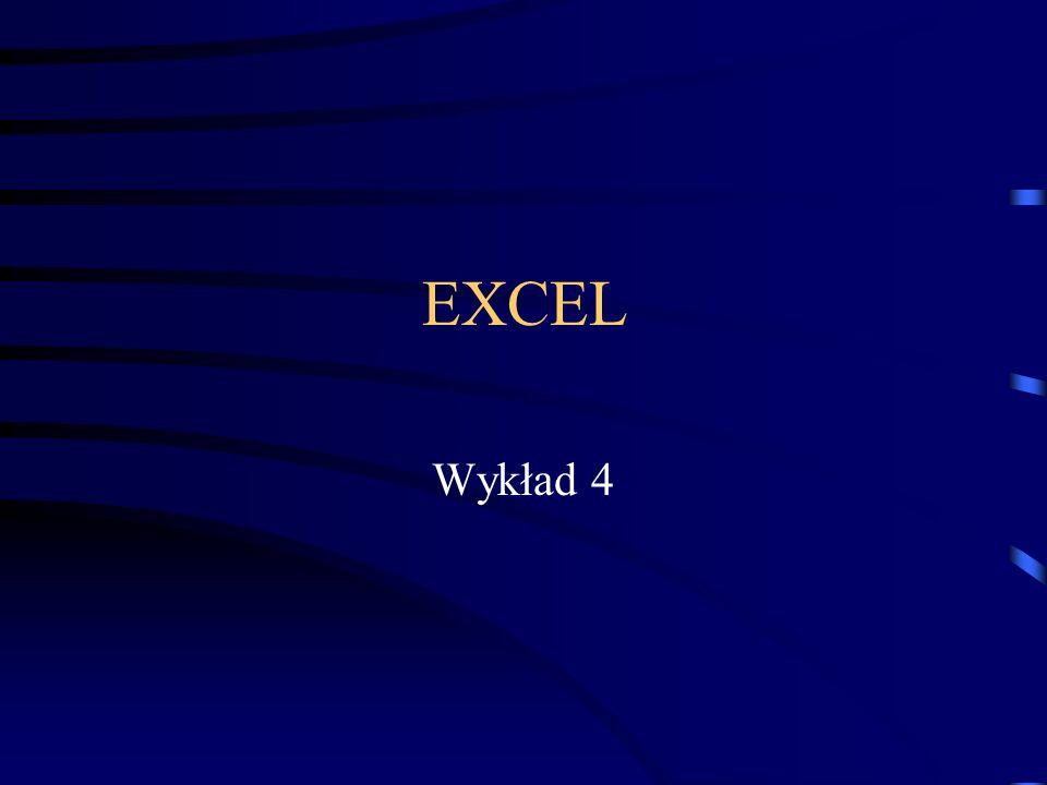 EXCEL Wykład 4