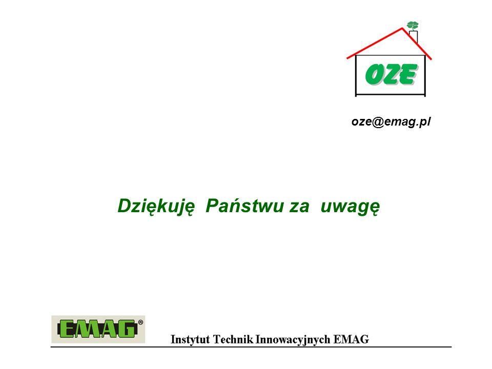 Dziękuję Państwu za uwagę oze@emag.pl
