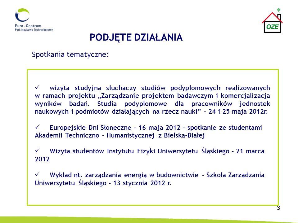 4 Targi Instalacje – Międzynarodowe Targi Poznańskie, 23 – 26 kwietnia 2012 r., Dystrybucja materiałów promocyjnych projektu na stoisku PNT II Forum Nowej Gospodarki – Katowice, 23 – 24 kwietnia 2012 r.