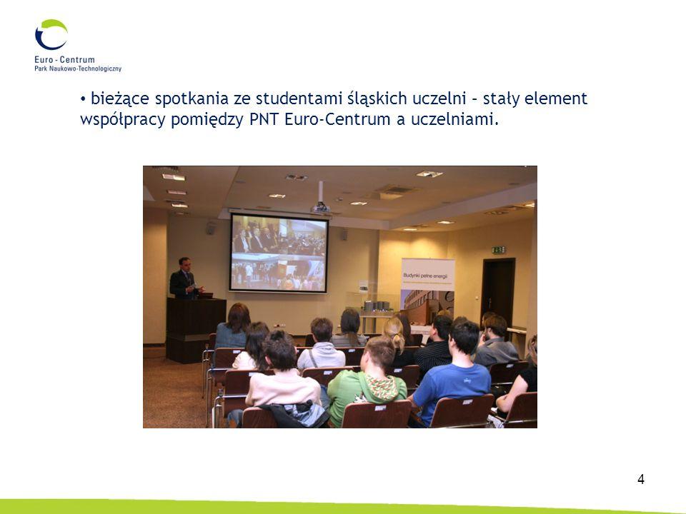 4 bieżące spotkania ze studentami śląskich uczelni – stały element współpracy pomiędzy PNT Euro-Centrum a uczelniami.