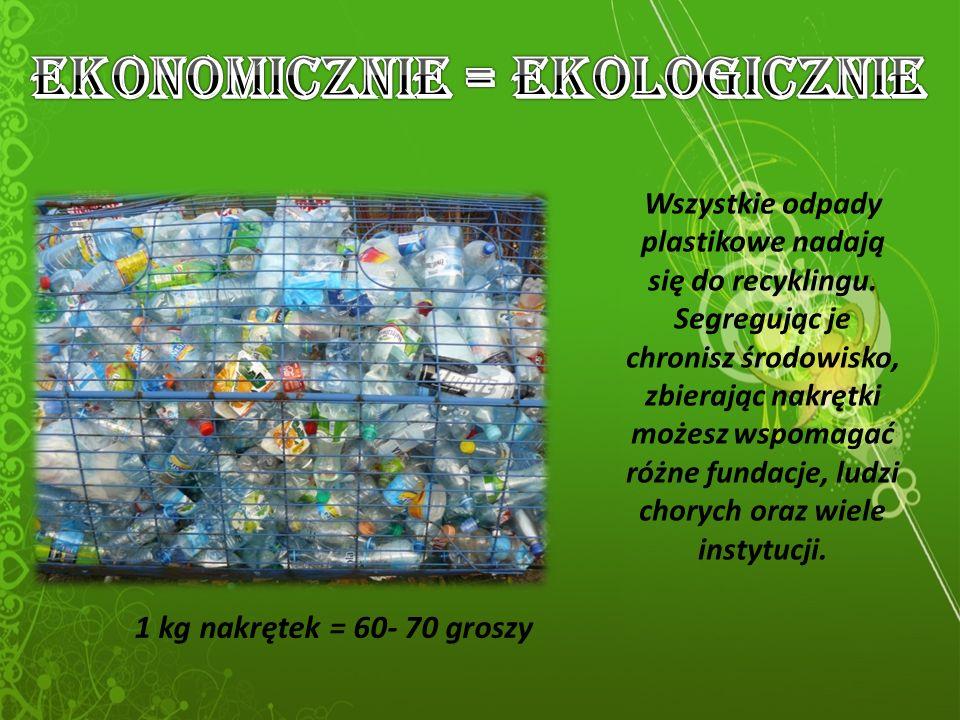 Wszystkie odpady plastikowe nadają się do recyklingu.