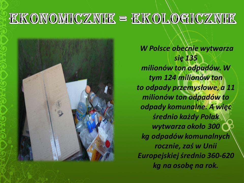 W Polsce obecnie wytwarza się 135 milionów ton odpadów.