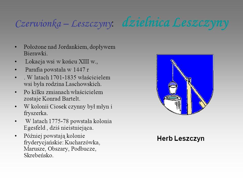 Czerwionka – Leszczyny : dzielnica Leszczyny Położone nad Jordankiem, dopływem Bierawki.