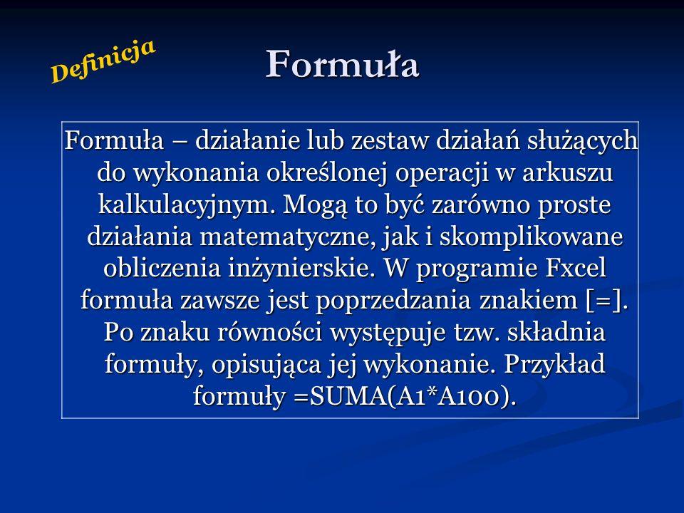 Funkcja Funkcja – narzędzie obliczeniowe zawierające algorytm rozwiązujący konkretne zadanie przeprowadzone na algorytmach.