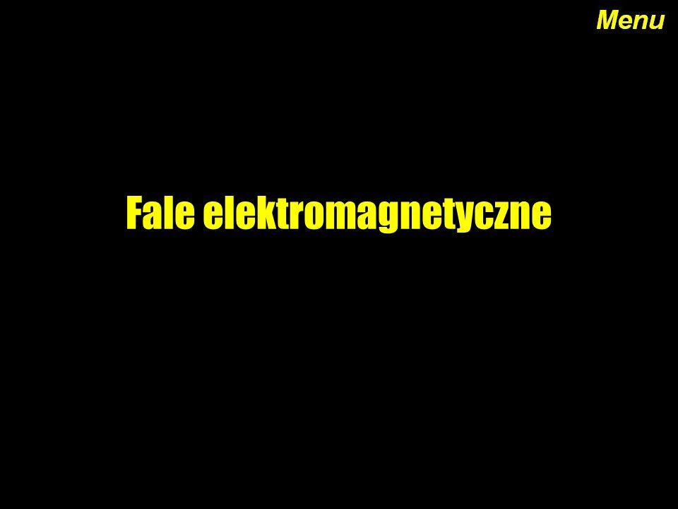 Menu Definicja Widmo fal elektromagnetycznych Promieniowanie gamma Promieniowanie X Ultrafiolet Światło widzialne Podczerwień Mikrofale Fale radiowe Koniec