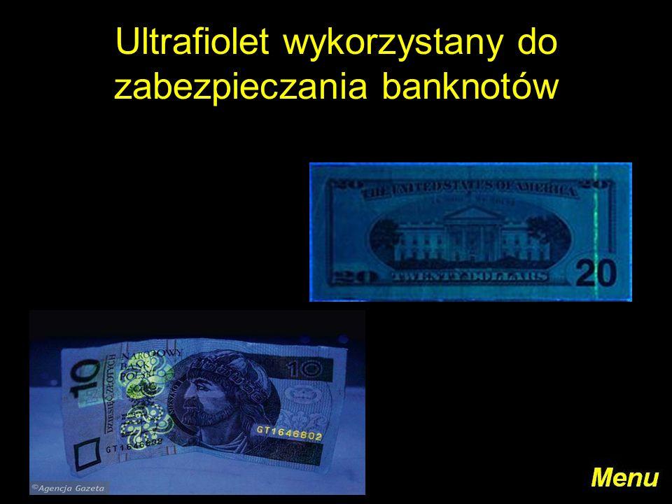 Ultrafiolet wykorzystany do zabezpieczania banknotów