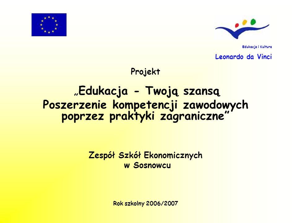 Projekt jest finansowany przez Wspólnotę Europejską Na potrzeby realizacji projektu została pozyskana kwota 14 688 euro, po 7 344 euro na rok szkolny 2006/2007 oraz 2007/2008