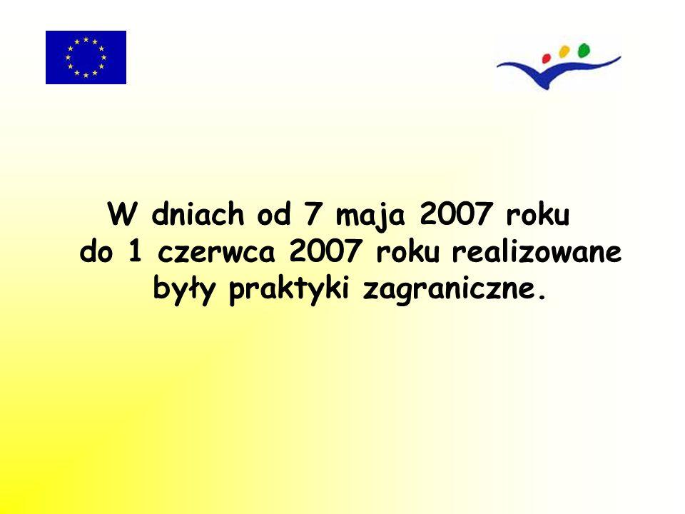 6 maja 2007 beneficjenci projektu wyjechali do Schkeuditz