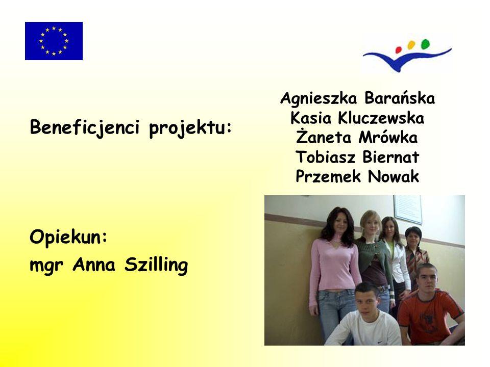 Beneficjenci zostali wyłonieni spośród uczniów Technikum nr 1 Zespołu Szkół Ekonomicznych w Sosnowcu uczących się w zawodzie: technik ekonomista technik handlowiec Przyjęto cztery kryteria przy naborze: - ocena z zachowania - wyniki nauczania (średnia ocen) - ocena z praktyki zawodowej zrealizowanej w Polsce - znajomość języka niemieckiego