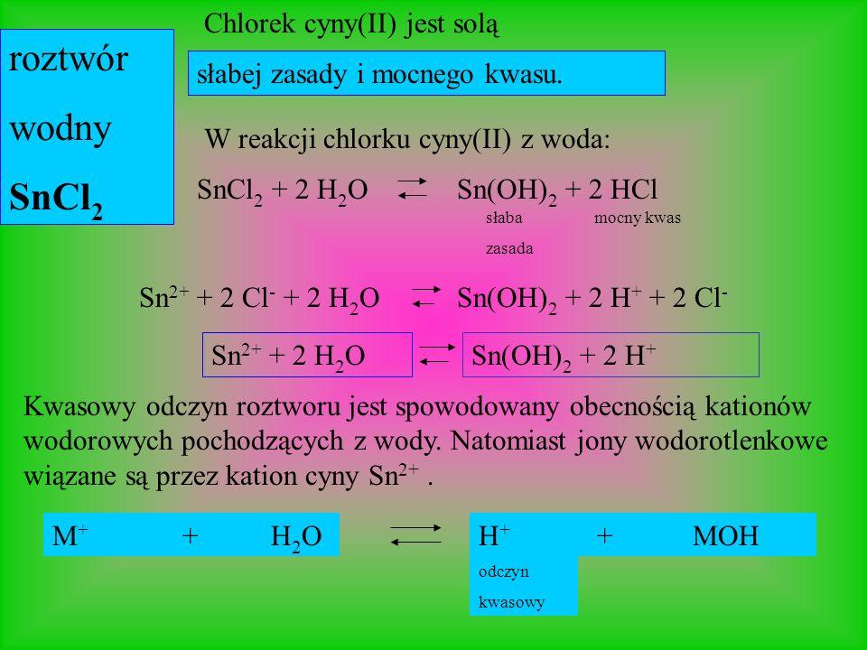 Siarczek sodu jest solą roztwór wodny Na 2 S mocnej zasady i słabego kwasu Obecność anionów wodorotlenkowych jest przyczyną zasadowego odczynu wodnego