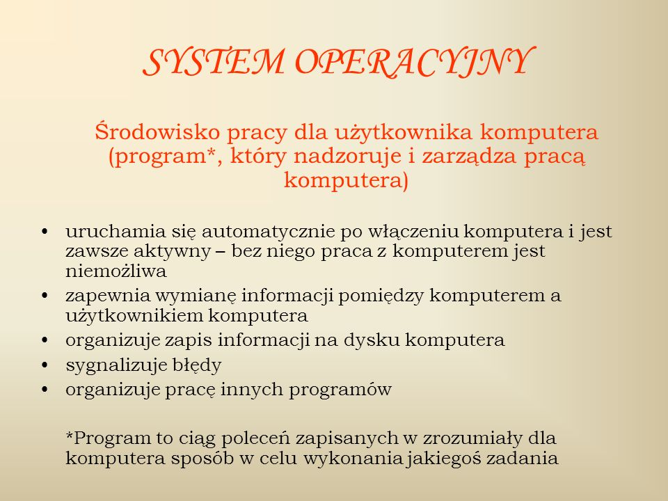 SYSTEMY OPERACYJNE MS WINDOWS DOS LINUX APPLE NOVELL