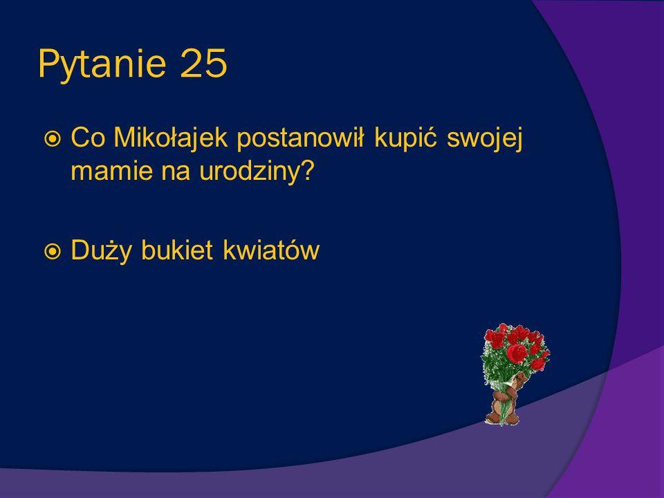 Pytanie 24 Dlaczego Dżodżo spędził w klasie Mikołajka tylko jeden dzień? Jego rodzice stwierdzili, że nauczył się tam tylko brzydkich słów
