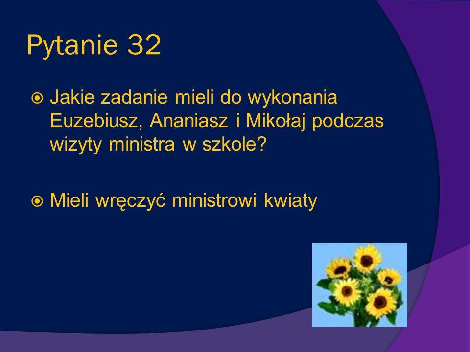 Pytanie 31 Dlaczego, w opowiadaniu