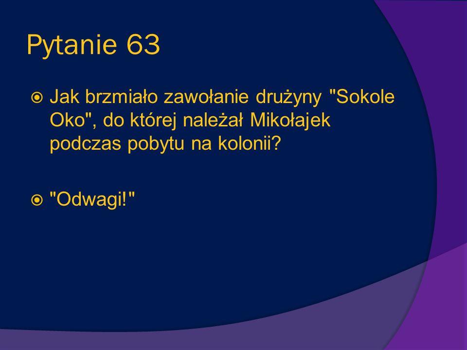 Pytanie 62 Mikołajek i jego wakacyjni koledzy chcieli pograć w grę, która polegała na wrzuceniu piłki do dołków. Jaka nazywała się ta gra? Minigolf