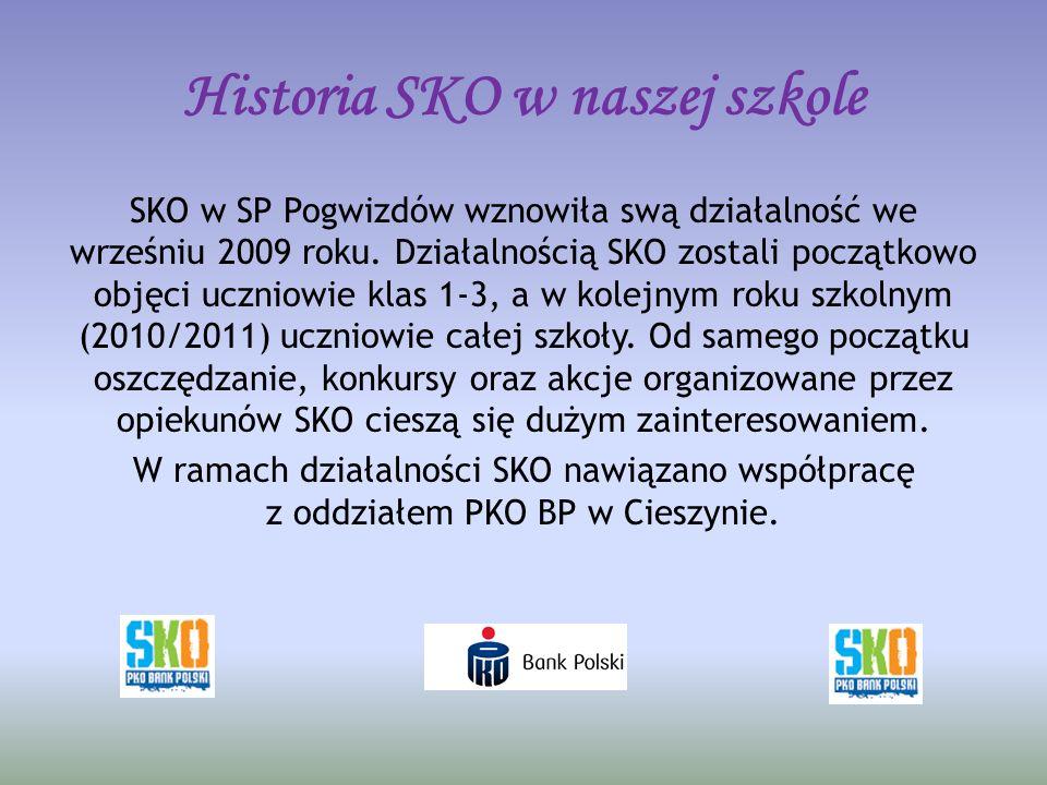 Historia SKO w naszej szkole SKO w SP Pogwizdów wznowiła swą działalność we wrześniu 2009 roku.