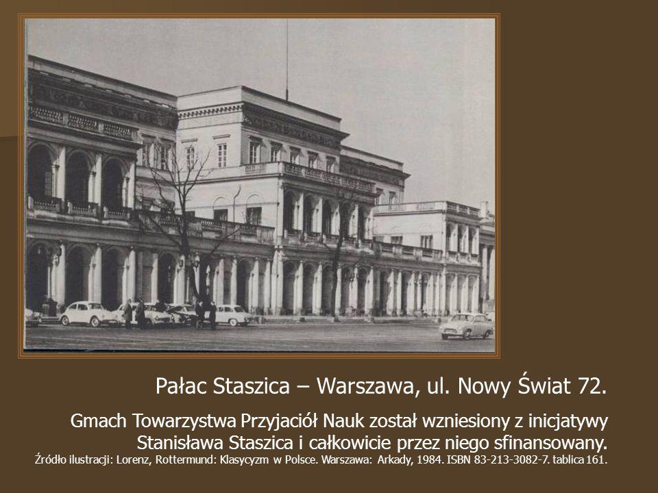 Pałac Staszica – Warszawa, ul.Nowy Świat 72.
