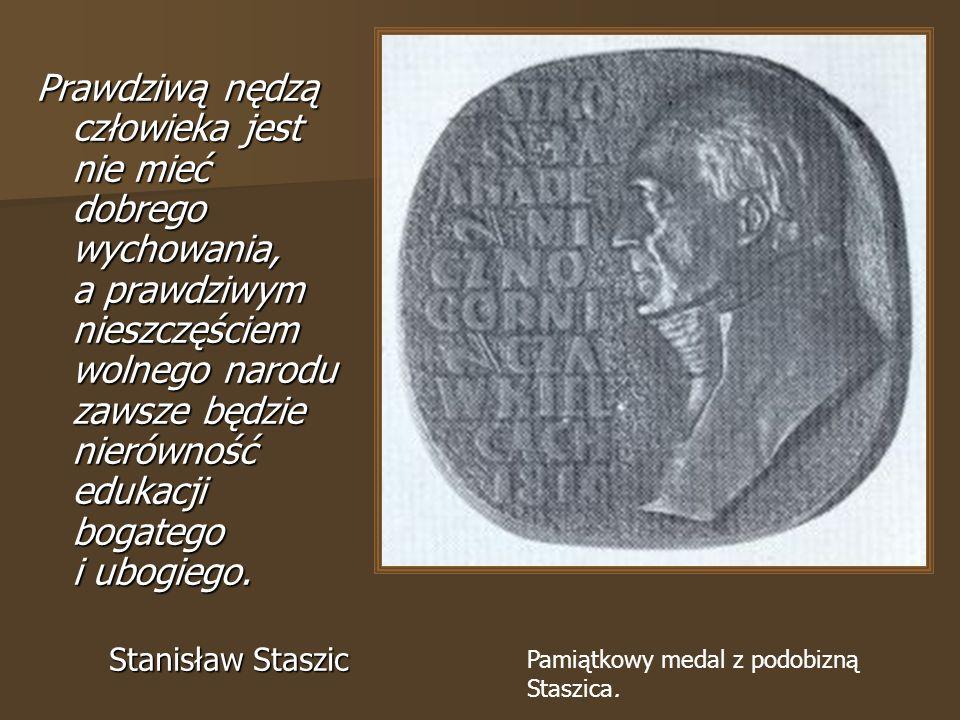 Pamiątkowy medal z podobizną Staszica.