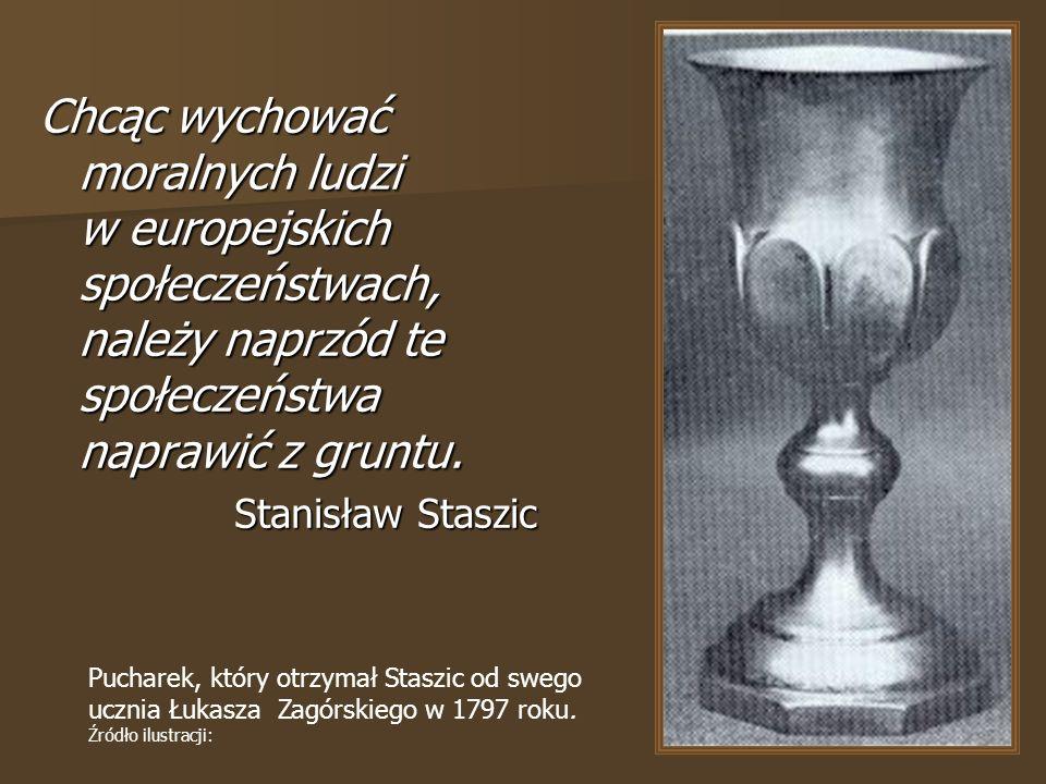 Pucharek, który otrzymał Staszic od swego ucznia Łukasza Zagórskiego w 1797 roku.