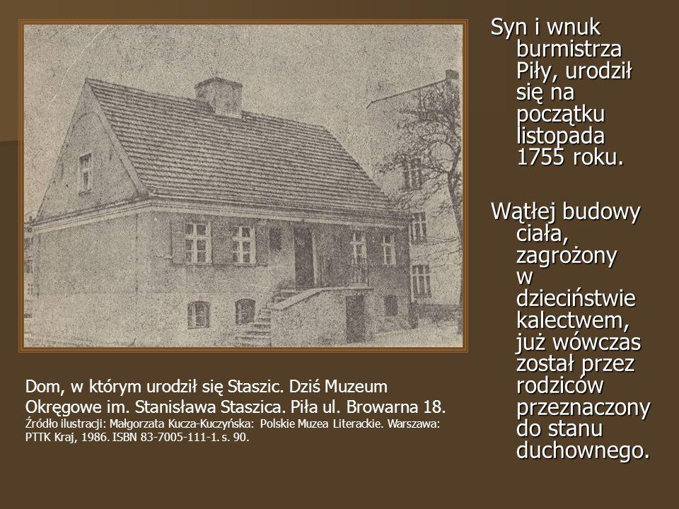 Syn i wnuk burmistrza Piły, urodził się na początku listopada 1755 roku.