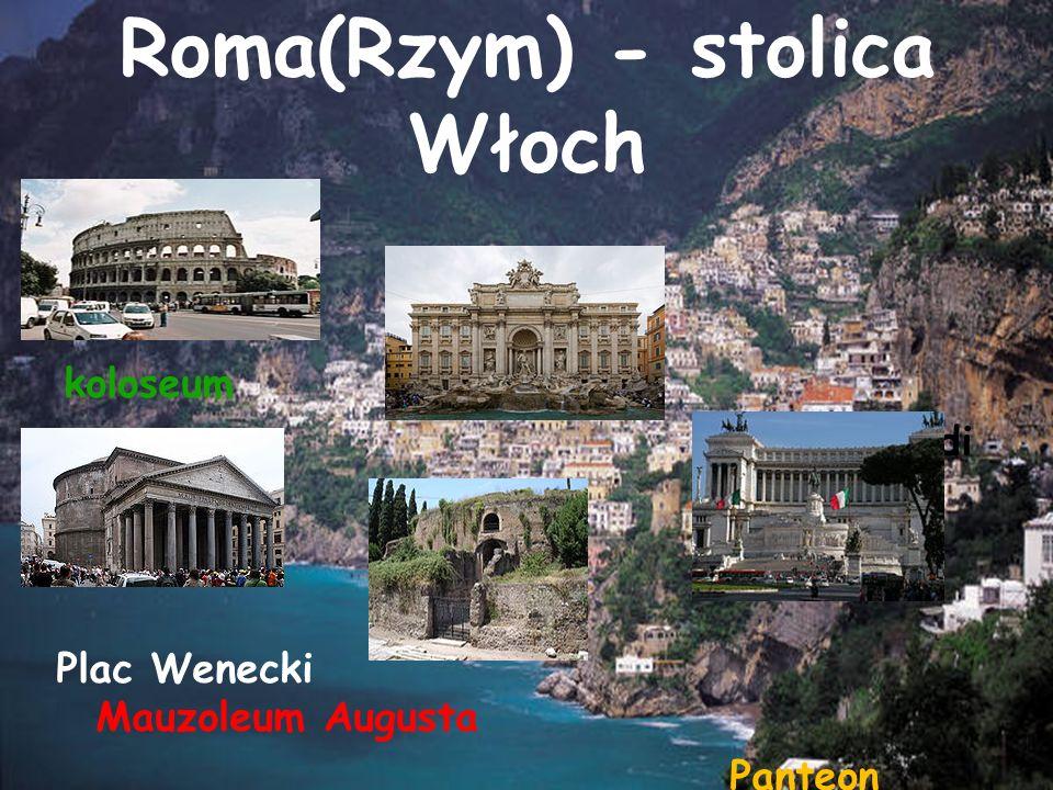 Roma(Rzym) - stolica Włoch koloseum fontanna di Trevi Plac Wenecki Mauzoleum Augusta Panteon