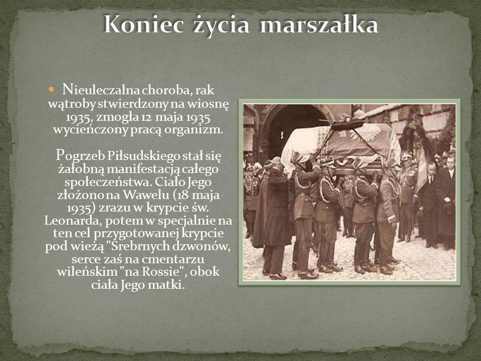 N ieuleczalna choroba, rak wątroby stwierdzony na wiosnę 1935, zmogła 12 maja 1935 wycieńczony pracą organizm.