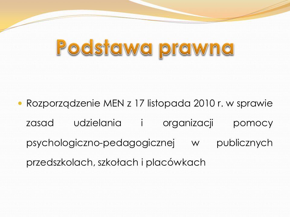 W szkołach podstawowych i szkołach ponadgimnazjalnych pomoc psychologiczno-pedagogiczna na zasadach określonych w rozporządzeniu jest udzielana od roku szkolnego 2012/2013 W terminie do 31 marca 2012 r.: Dyrektorzy utworzą dla uczniów zespoły; Zespoły wykonają zadania (zakres i proponowane formy); W terminie do 30 kwietnia 2012 r.