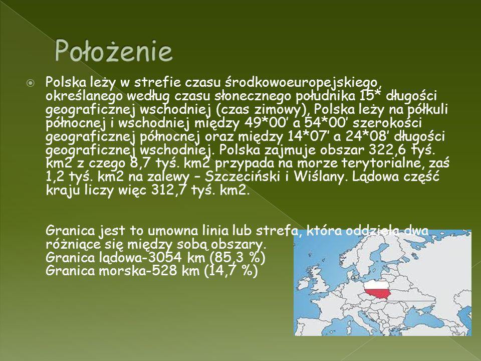 Polska leży w strefie czasu środkowoeuropejskiego, określanego według czasu słonecznego południka 15* długości geograficznej wschodniej (czas zimowy),