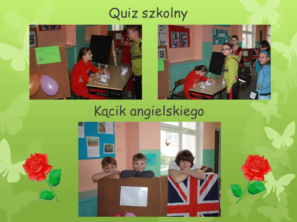 Quiz szkolny Kącik angielskiego