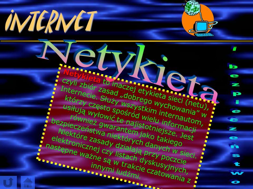 Internet Najpopularniejsze w Polsce strony z czatem to www.czateria.pl (portal Interia) www.czat.wp.pl (portal Wirtualna Polska) www.czat.onet.pl (por