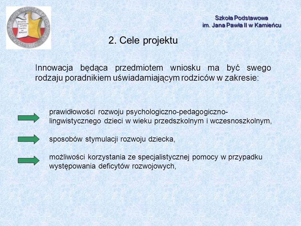 Szkoła Podstawowa im.Jana Pawła II w Kamieńcu 2.