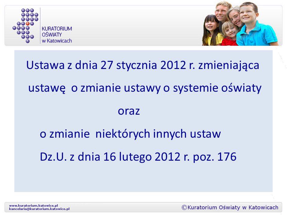 Ustawa z dnia 27 stycznia 2012 r.