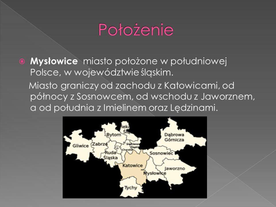 Mysłowice miasto położone w południowej Polsce, w województwie śląskim. Miasto graniczy od zachodu z Katowicami, od północy z Sosnowcem, od wschodu z