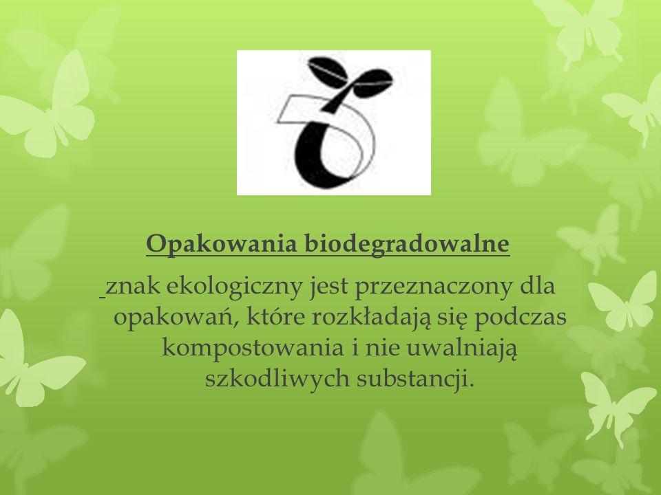 Opakowania biodegradowalne znak ekologiczny jest przeznaczony dla opakowań, które rozkładają się podczas kompostowania i nie uwalniają szkodliwych sub