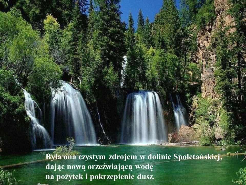 Była ona czystym zdrojem w dolinie Spoletańskiej, dając nową orzeźwiającą wodę na pożytek i pokrzepienie dusz.