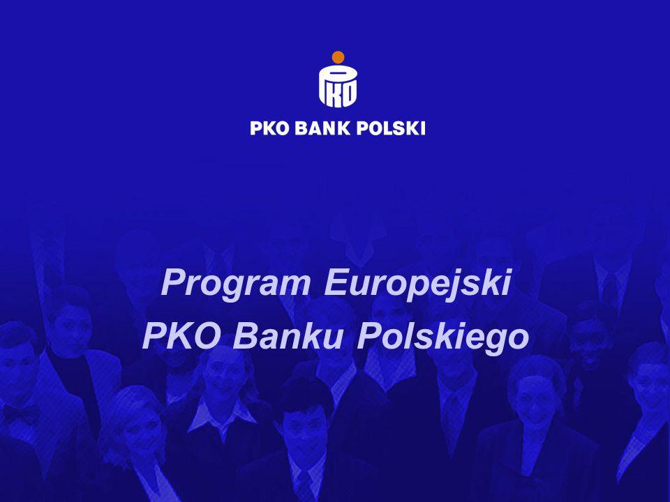 PROGRAM EUROPEJSKI PKO BP Potrzeby kapitałowe (wkład własny / prefinansowanie) Wkład unijny w ramach projektu (prefinansowanie): 455 000 zł Środki własne znajdujące się w dyspozycji benficjenta: 200 000 zł Potrzeby kapitałowe w ramach finansowania wkładu własnego (współfinansowanie): 345 000 zł