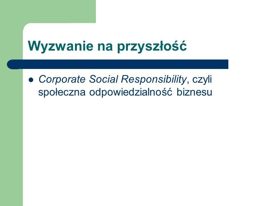 Wyzwanie na przyszłość Corporate Social Responsibility, czyli społeczna odpowiedzialność biznesu