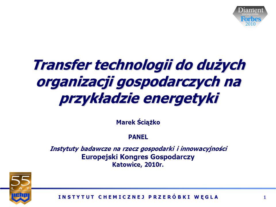 I N S T Y T U T C H E M I C Z N E J P R Z E R Ó B K I W Ę G L A 2 KRAJOWE DYLEMATY POLITYKI ENERGETYCZNEJ UE Konkurencyjność gospodarki Bezpieczeństwo surowcowe Zrównoważony rozwój Dylemat 1: Jak zabezpieczyć długoterminowe dostawy energii przy konkurencyjnych cenach z zachowaniem zasad zrównoważonego rozwoju i dekarbonizacji energetyki węglowej.