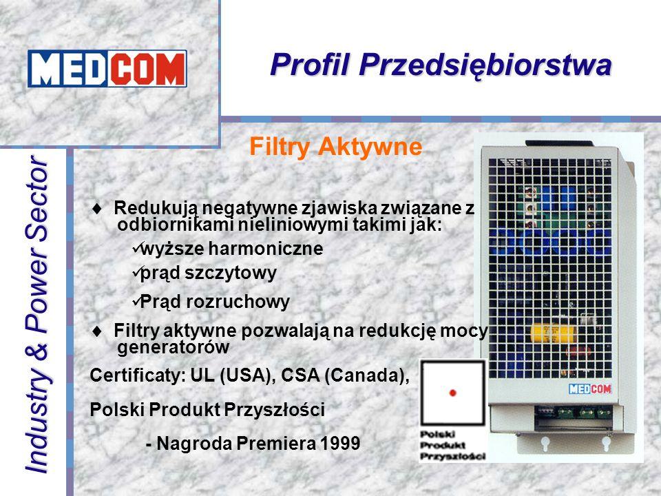 Najnowsze osiągnięcia technologii z połączeniu z doświadczeniem konstruktorów MEDCOM stanowią o klasie naszych wyrobów Rdzenie amorficzne i nanokrystaliczne Transformatory planarne IGBT i HV IGBT Microkontrolery Połączenie światłowodowe Zalewy poliuretanowe i silikonowe Starzenie produktów Wewnętrzna komunikacja – standard CANBUS Technologie Profil Przedsiębiorstwa