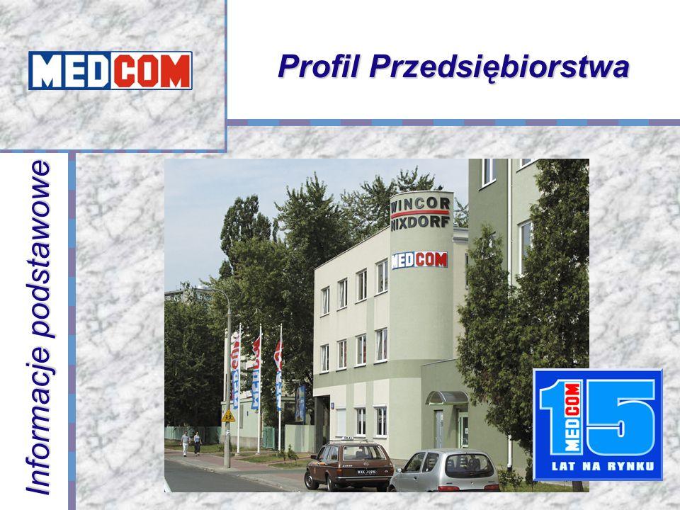 Profil Przedsiębiorstwa Informacje podstawowe MEDCOM powstał w 1988 roku Kapitał założycielski 400,000.- złotych Ponad 6 tysięcy aplikacji w sektorze