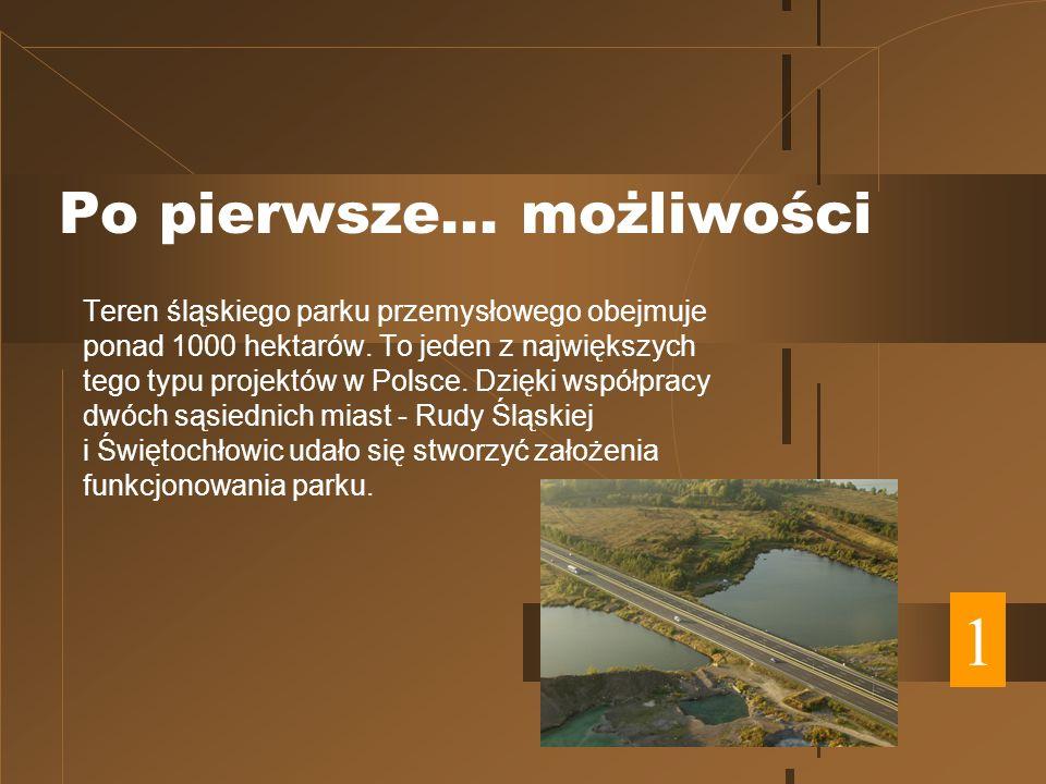 Po pierwsze... możliwości Teren śląskiego parku przemysłowego obejmuje ponad 1000 hektarów.