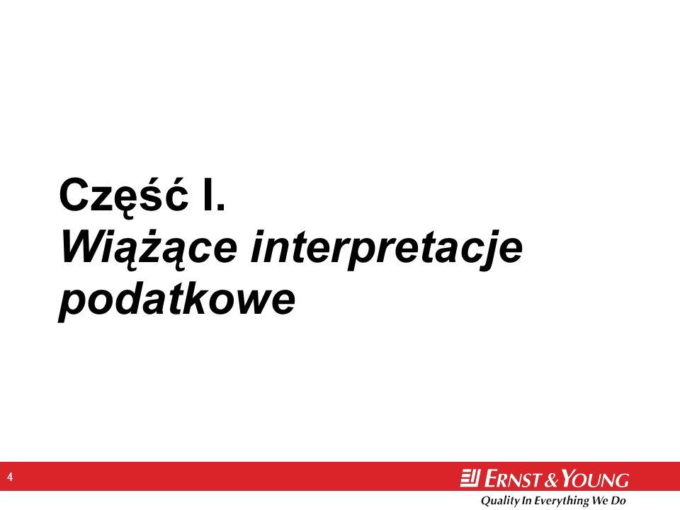 4 Część I. Wiążące interpretacje podatkowe