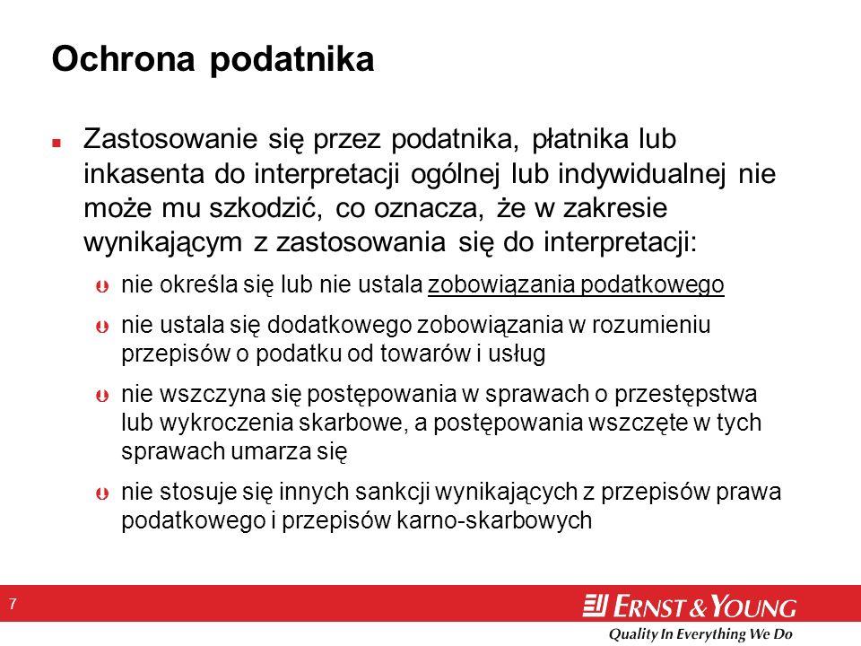 48 Kontakt Ernst & Young Sp.z o.o. Pl. Dominikański 3 50-159 Wrocław Tel.