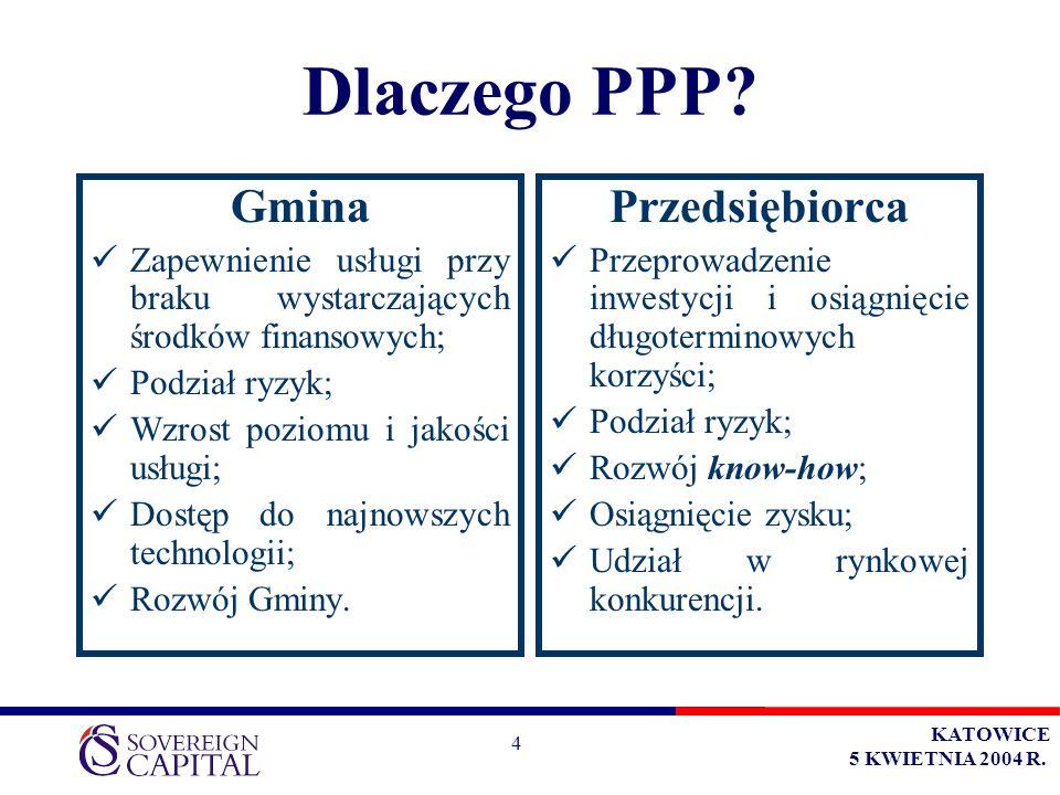 KATOWICE 5 KWIETNIA 2004 R. 4 Dlaczego PPP.