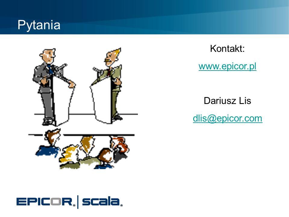 Pytania Kontakt: www.epicor.pl Dariusz Lis dlis@epicor.com