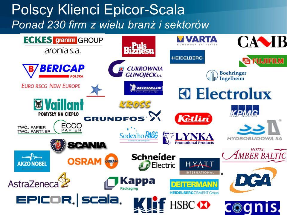 Polscy Klienci Epicor-Scala Ponad 230 firm z wielu branż i sektorów