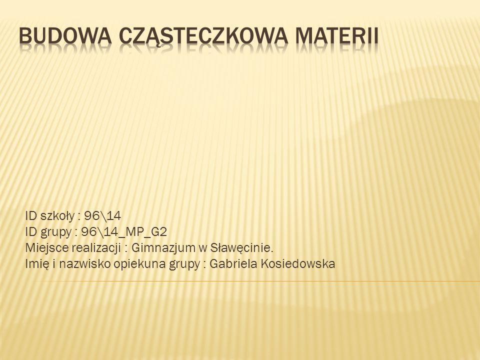 ID szkoły : 96\14 ID grupy : 96\14_MP_G2 Miejsce realizacji : Gimnazjum w Sławęcinie. Imię i nazwisko opiekuna grupy : Gabriela Kosiedowska