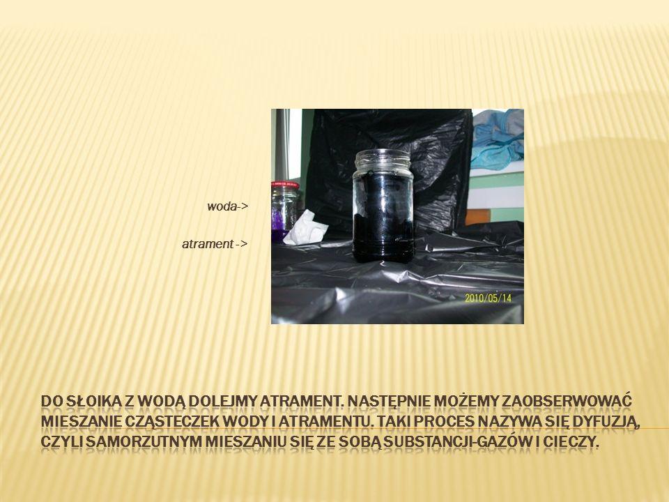 woda-> atrament ->