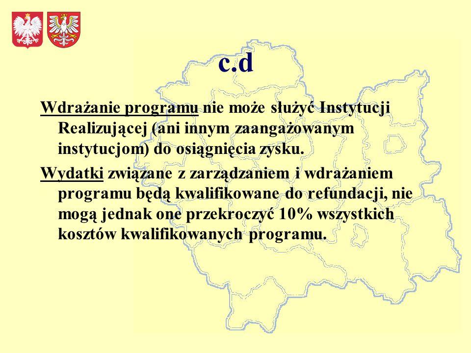 Inicjatywa na rzecz rozwoju regionalnego regionów peryferyjnych i słabo rozwiniętych Całkowita alokacja w ramach tego obszaru tematycznego wynosi 50 mln CHF Minimalna wartość programu– 5 mln CHF Maksymalna wartość programu wynosi 10 mln CHF Na województwo małopolskie przypadałoby około 17 mln CHF.
